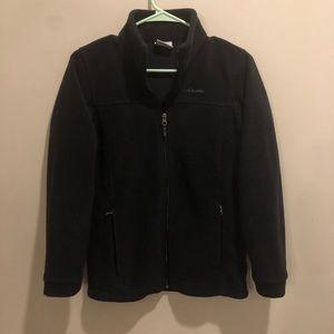 Columbia fleece jacket black size L 14/16